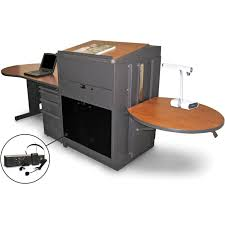 shown with optional accessories marvel vizion stationary teacher s desk with adjule
