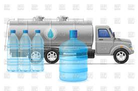 Purifying Drinking Water Cargo Truck Delivery And Transportation Of Purified Drinking Water