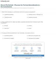 print formal amendment definition u0026 process worksheet