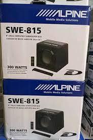 Yeni içinde, ikinci el satılık Alpine swe-815 aktivf subwoof