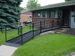 handi ramp galvanized steel ramp installed on house