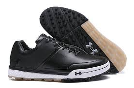 under armour tempo hybrid 2 leather golf shoes black white
