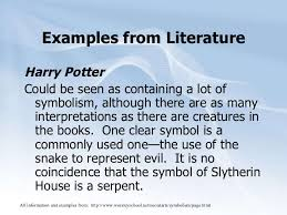 symbolism 10 examples from literature