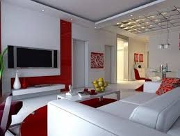 Image Red Neat Red And White Living Room Painting Idea Apartment Geeks 20 Living Room Painting Ideas Apartment Geeks