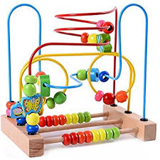Wooden Bead Game Amazon Lewo Wooden Baby Toddler Toys Circle First Bead Maze 11