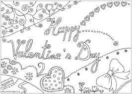 Small Picture Happy Valentines Day Colouring Page
