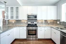 black and white backsplash black and white kitchen black white grey tile white kitchen cabinets with