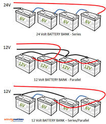 sizing a solar system and wiring your battery bank solar info 48 volt battery wiring diagram at 24 Volt Battery Bank Wiring