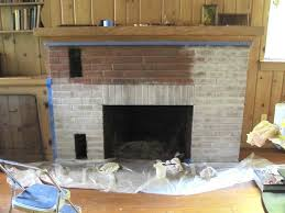 white painting a brick fireplace
