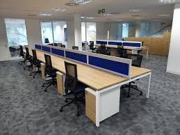 office desk divider. Office Desk Divider. New Open Plan Space With Blue Dividers Separating Divider E