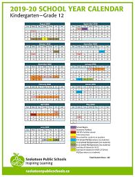 Calendar 2013 Through 2015 Calendar Saskatoon Public Schools