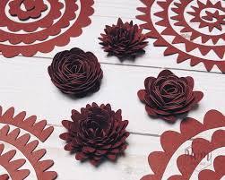 Paper Flower Designs Rolled Paper Flower Template 4 Designs 3d Paper Flowers Paper Flowers
