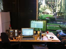 google california office. mountain view, ca; google photo of: my desk in view ca california office