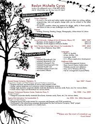 Sample Of Creative Graphic Design Resume Free Resume Templates