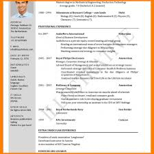 International Format Resume A Standard Resume Format Resume Templates Design For Job