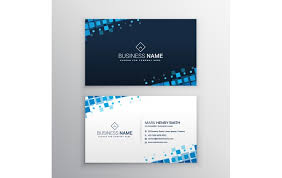 Free Name Cards Free Name Card With Blue Squares Template Name Card Templates