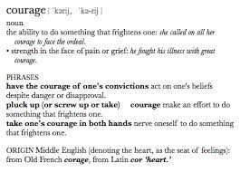 image gallery courage definition