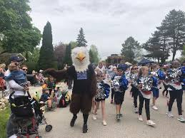 """Swanson Elem on Twitter: """"Swanson Eagle mingling with the parade crowds in  Elm Grove with our Poms team! Special thanks to Adam Consiglio!… """""""
