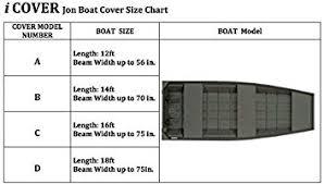 Jon Boat Size Chart Icover Jon Boat Cover Water Proof Heavy Duty Trailerable