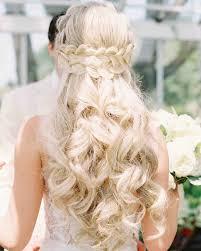 Wedding Half Up Hairstyles 28 Half Up Half Down Wedding Hairstyles We Love Martha Stewart