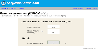Excel Roi Template Excel Roi Calculator Calculator Spreadsheet Free Download