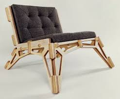 Unique Wooden Chair Inspired by A Form of Skeleton