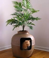 hidden litter planter box cat litter box
