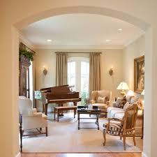 traditional family room furniture. black laquered baby grand piano family room traditional with sitting arch doorway tan sofa furniture