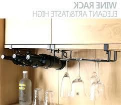undercabinet wine glass holder rack stemware under cabinet bottle target