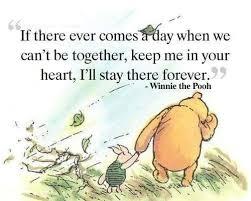 Schöne Englische Sprüche über Fernbeziehungen Pooh Bear