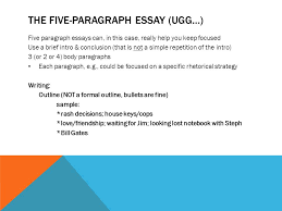ap language composition test ppt video online  the five paragraph essay ugg