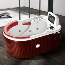 china modern jacuzzi double whirlpool bathtub with whirlpool spa function