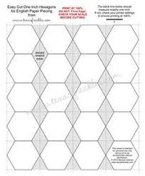 Step 1: Make Your 2-in Hexagon Template   Template, Patchwork and ... & Link to 1