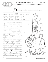 Bible Worksheets Children S Activities Online Older Age At For ...