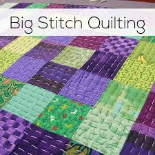 Big Stitch Quilting - an Easy and Fun Hand Quilting Technique ... & Big Stitch Quilting - a video tutorial from Shiny Happy World Adamdwight.com