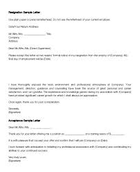 Accepting Resignation Letter From Employee Confirmation Sample Doc