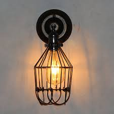 loft industrial iron cage. MSY Wall Light Original Loft Industrial Wind Retro Iron Cage F