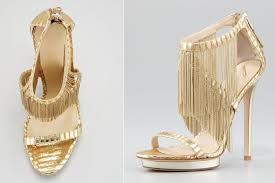 gold wedding shoes for bridesmaids. gold fringe strappy wedding shoes for bridesmaids s