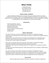 Engineer Resume Beauteous Professional Application Engineer Resume Templates To Showcase Your