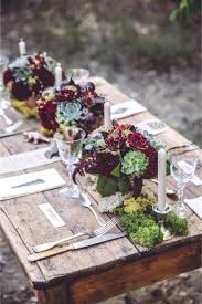 rustic wedding table settings by rustic wedding round table settings