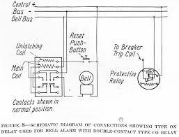 methods of applying relays to circuit breakers from silent schematic diagram of connections showing type ox relay used for bell alarm double contact