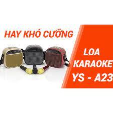 Loa bluetooth không dây xách tay du lịch YS A23 Cải tiến từ YS A20 Kèm 1  micro không dây Nghe nhạc, hát karaoke cực hay