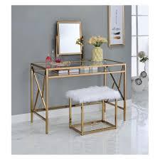 Vanity table Metal Iohomes Burdette Contemporary Vanity Table Set Target Iohomes Burdette Contemporary Vanity Table Set Target
