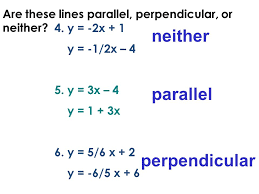writing identifying equations of parallel perpendicular lines