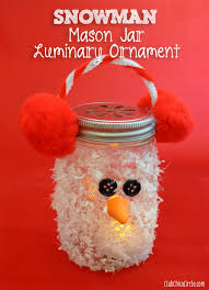 Mason Jar Decorating Ideas For Christmas Mason Jar Craft Homemade Holiday Inspiration Snowman crafts 58