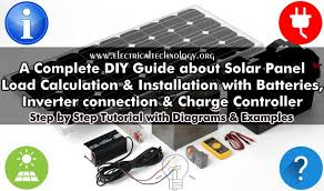 solar panel installation step by step procedure with calculation and examples