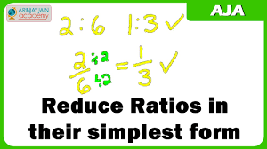 ratios in fraction form reduce ratios in their simplest form youtube