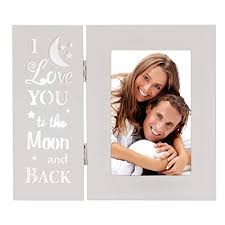 ouchan love you more picture frame 4x6 light up carved wording i love you to