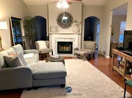 collonade gray in a living room with marble fireplace and arched doorways kylie m interiors