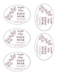 Recipe Labels Lavender And Orange Foot Soak Recipe And Labels